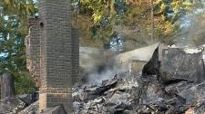Quadra Island home reduced to rubble in fire