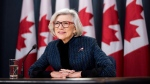 Outgoing Chief Justice of the Supreme Court of Canada Beverley McLachlin listens to a question during a news conference on her retirement, in Ottawa on Friday, Dec. 15, 2017. THE CANADIAN PRESS/Justin Tang
