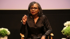 In this Dec. 8, 2017 file photo, Anita Hill speaks at a discussion about sexual harassment and how to create lasting change from the scandal roiling Hollywood at United Talent Agency in Beverly Hills, Calif. (Photo by Willy Sanjuan/Invision/AP, File)
