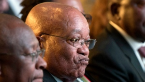 In this Saturday, Aug. 6, 2016 file photo, South African President Jacob Zuma, attends the declaration announcement of the municipal elections in Pretoria, South Africa. (AP Photo/Herman Verwey, File)