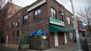The mosque where Akayed Ullah, the accused Port Authority bomber, worshiped is seen, Tuesday, Dec. 12, 2017, in the Kensington neighborhood of the Brooklyn borough of New York. (AP Photo/Mary Altaffer)