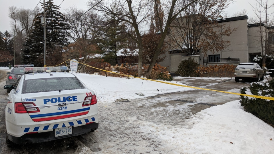 The home of Barry and Honey Sherman, who were found dead in their home on Friday afternoon. (Mary Nersessian/CTV News)