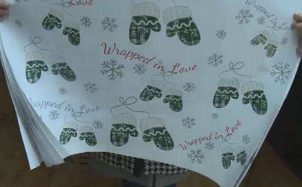 The 'Wrapped in Love' campaign sold 10,000 sheets of wrapping paper as part of a fundraiser for the Every Woman's Centre.