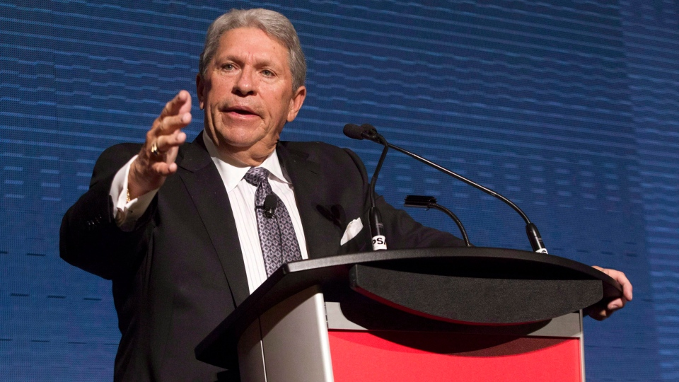 CP Rail's former CEO E. Hunter Harrison attends the company's AGM in Toronto on May 1, 2013. (Chris Young/THE CANADIAN PRESS)