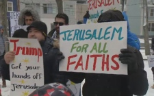 Donald Trump's decision to recognize Jerusalem as the capital of Israel has prompted many protests, including a peaceful demonstration Saturday at Victoria Park in downtown Halifax.