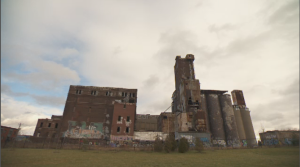 Since its abandonment, the site is blanketed by graffiti – some consider it too dangerous to enter, and its presence has been the topic of many heated debates. (CTV Montreal)