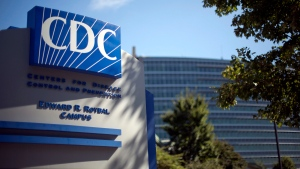 In this Oct. 8, 2013, file photo, a sign marks the entrance to the federal Centers for Disease Control and Prevention (CDC) in Atlanta. (AP Photo / David Goldman, File)