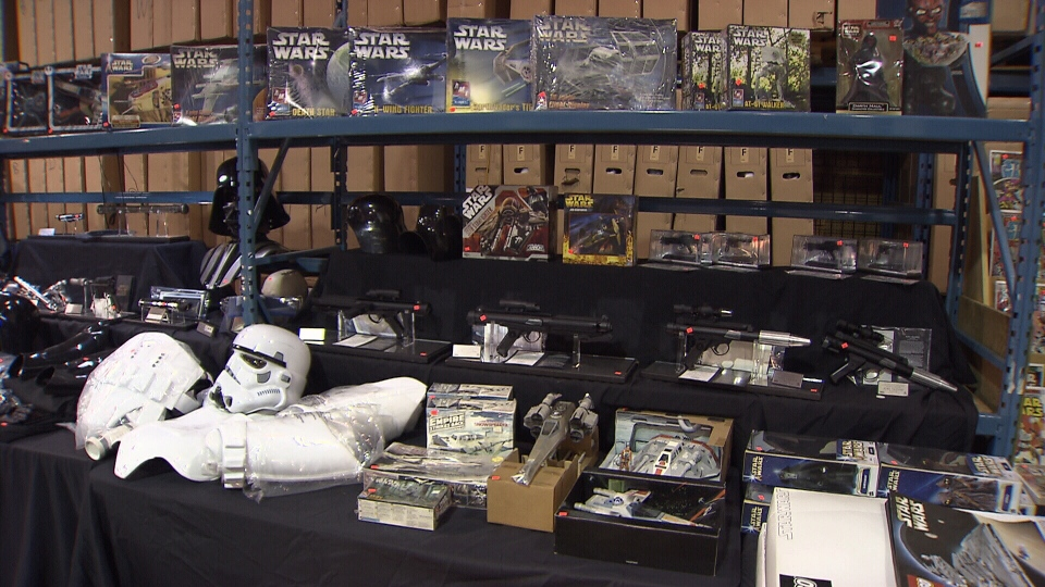 A massive Star Wars auction was held in Langley on Saturday.