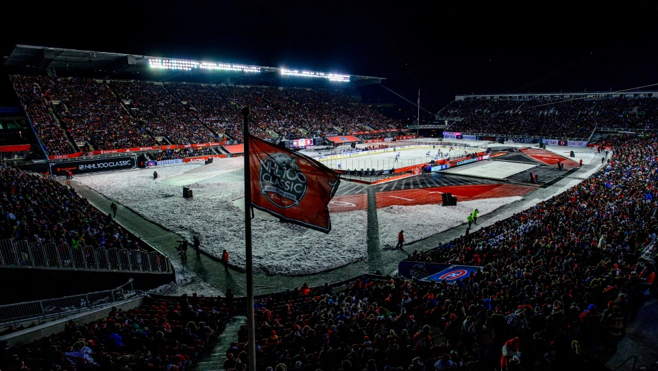 Montreal Canadiens and Ottawa Senators play during first period hockey action at the NHL 100 Classic, in Ottawa on Saturday, December 16, 2017. (Sean Kilpatrick/THE CANADIAN PRESS)