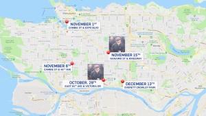 Sex assaults map
