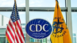 """This Nov. 19, 2013 file photo shows a Centers for Disease Control and Prevention logo at the agency's federal headquarters in Atlanta. Reacting to a Friday, Dec. 15, 2017 story in The Washington Post, health leaders say they are alarmed that officials at the CDC, the nation's top public health agency, are being told not to use certain words or phrases in official budget documents, including """"fetus,"""" ''transgender"""" and """"science-based."""" (AP Photo/David Goldman, File)"""