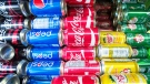 Sugary drinks are seen at a store Wednesday, December 13, 2017 in Montreal. The city is moving to ban sugary drink sales from all of its municipal buildings. THE CANADIAN PRESS/Ryan Remiorz