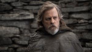 "This image released by Lucasfilm shows Mark Hamill as Luke Skywalker in ""Star Wars: The Last Jedi."" (John Wilson/Lucasfilm)"
