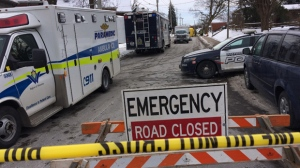 Regional police conducted a drug investigation on Strange Street in Kitchener Sunday afternoon.