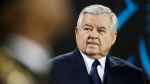 In this Jan. 24, 2016 file photo, Carolina Panthers owner Jerry Richardson watches before the NFL football NFC Championship game against the Arizona Cardinals in Charlotte, N.C. (AP Photo/Bob Leverone, File)