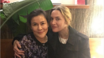 Kate Winslet (right) poses for a photo with Kate Auewattanakorn (left), the owner of Vancouver Thai restaurant Maenam. (maenamrestaurant/Instagram)
