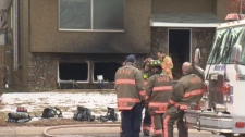 A man is in the hospital in critical condition after a house fire on Sunday, December 17, 2017.