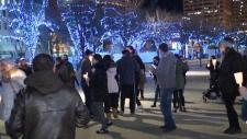 Violence at candlelight vigil