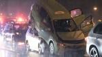 5-vehicle crash on Alex Fraser Bridge