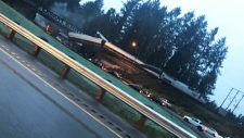 CTV News Channel: Train derails in Washington