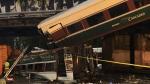A derailed Amtrak train is seen in Washington State on Monday, Dec. 18, 2017. (Trooper Brooke Bova / Twitter)