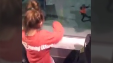 Girls bust a move with Dallas airport grounds crew