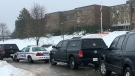 London police investigate a possible firearm at Banting SS on Dec. 18, 2017. (Jim Knight/CTV)