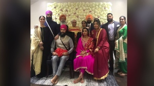 NDP Leader Jagmeet Singh and Gurkiran Kaur Sidhu celebrated their parents formally meeting for the first time on Dec. 17, prompting what Singh's office says are premature engagement congratulations. (Jay Dhaliwal / Instagram)