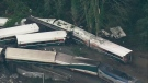 CTV News Channel: Aerials of train derailment