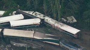 CTV News Channel: Aerials of train derailment