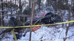 The Transportation Safety Board of Canada released this photo of the Tweed, Ont. helicopter crash. (TSBCanada/Twitter)