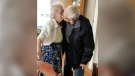 Herbert and Audrey Goodine share a kiss in this Dec. 18, 2017, Facebook photograph. (Dianne Goodine Phillips/Facebook)