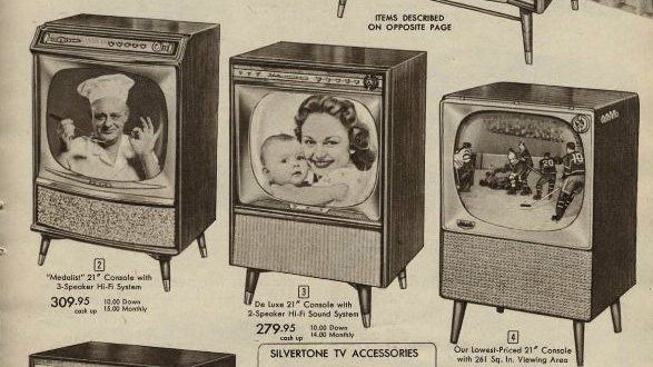 Sears Canada Wish Book 1957 Tv page