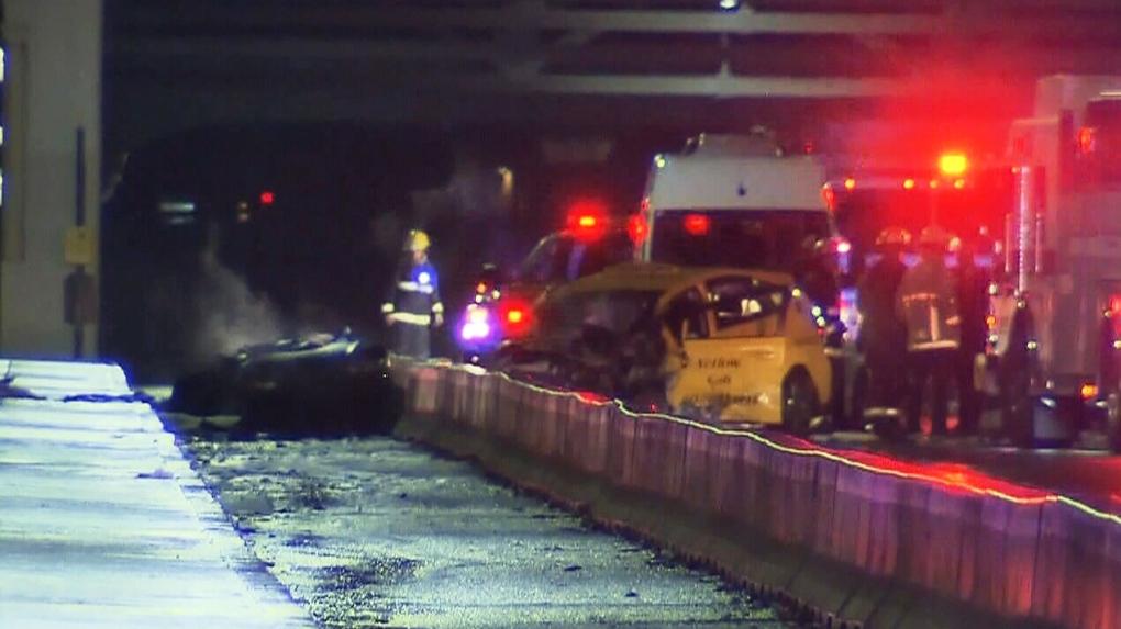 1 dead, 2 injured after crash on Burrard Bridge | CTV News