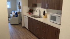 Newly renovated kitchen in Journey House 2