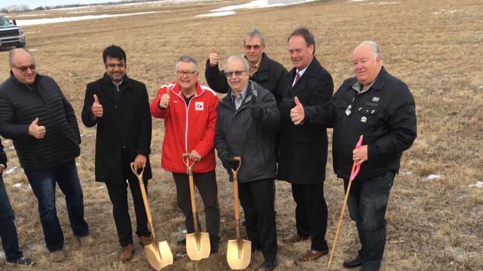 Officials break ground on a new wastewater treatment plant for White City and Emerald Park (Jessica Smith / CTV Regina)