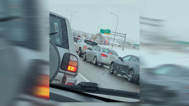 Serious crash on Deerfoot Trail | CTV News