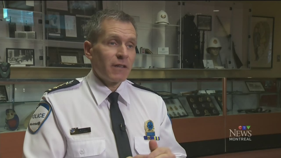 Martin Prud'homme is the interim leader of the Montreal police department