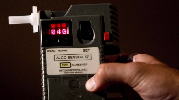 Alcohol level in air at fraternity party registers on Breathalyzer