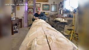 Totem Pole carving Calgary - Harvey Trimble