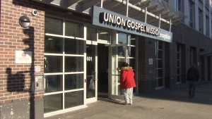 The entrance to Union Gospel Mission is seen in this file photo from 2017. (CTV)