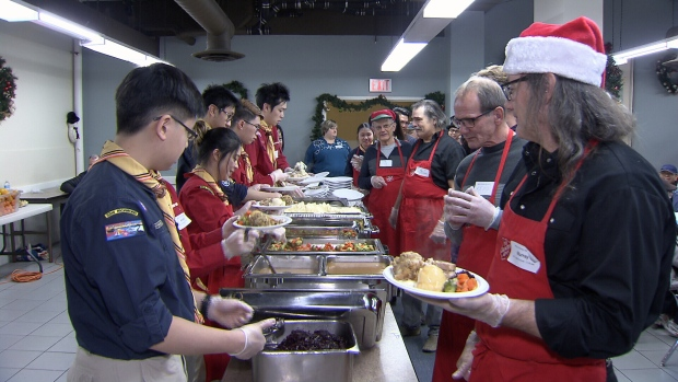 Volunteers, donations make Salvation Army Christmas dinner in Ogdensburg happen