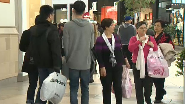 Shoppers crowded the malls in Calgary on Boxing Day, looking for deals on all the items they didn't get this year.