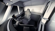 Interior of new Tesla electric tractor-trailer