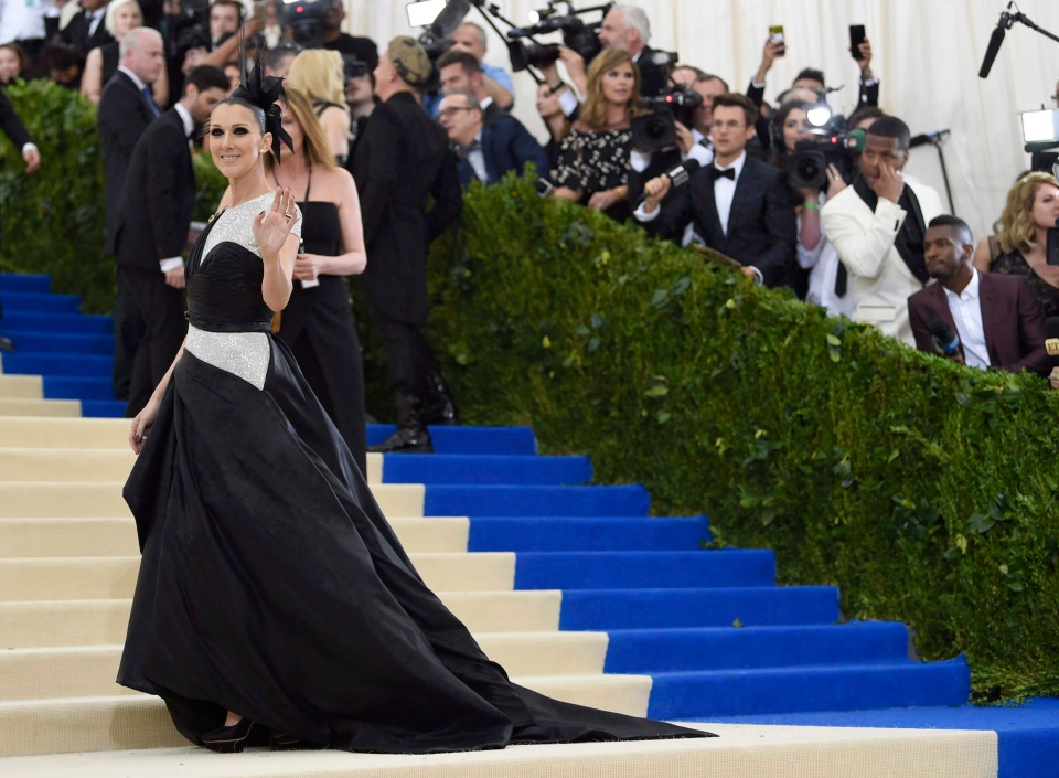 Celine Dion attends The Metropolitan Museum of Art's Costume Institute benefit gala celebrating the opening of the Rei Kawakubo/Comme des Garcons: Art of the In-Between exhibition on Monday, May 1, 2017, in New York. Many celebrities walked the 2017 Met Gala carpet earlier this year in outlandish styles, but only Celine Dion used the moment to propel her transformation into a fashion maven. (THE CANADIAN PRESS/AP, Evan Agostini/Invision)