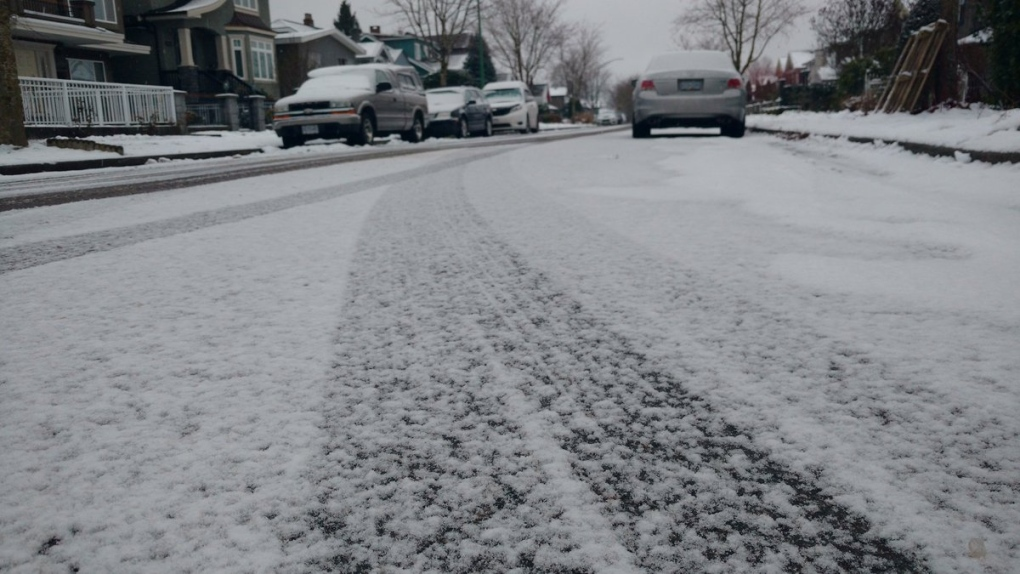 Snow in Burnaby