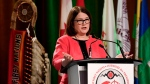 Minister of Indigenous Services Jane Philpott speaks at the Assembly of First Nations Special Chiefs Assembly in Ottawa on Wednesday, Dec. 6, 2017. (Justin Tang / THE CANADIAN PRESS)