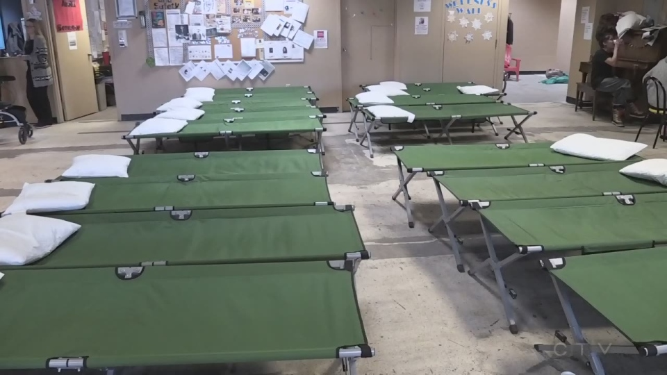 Off the Street Shelter Sudbury prepares for over 30 people to stay during the extreme cold.