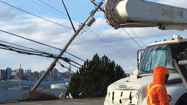 Thousands of Nova Scotians were in the dark Christmas Day after a wind storm hit the province.