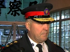 Toronto Police Chief Bill Blair updates the media late Sunday, May 10, 2009.
